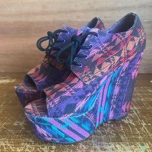 Steve Madden Platform Wedge Shoes
